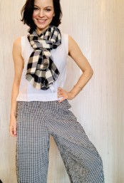 Checked scarf £49