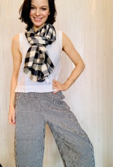 Checked scarf £49 ONE Left!