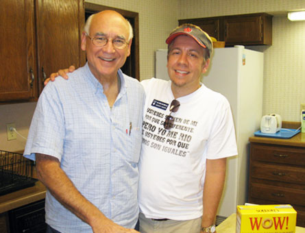 Brother Ed, district superior of Mexico and Brother Brian, director of Casa María