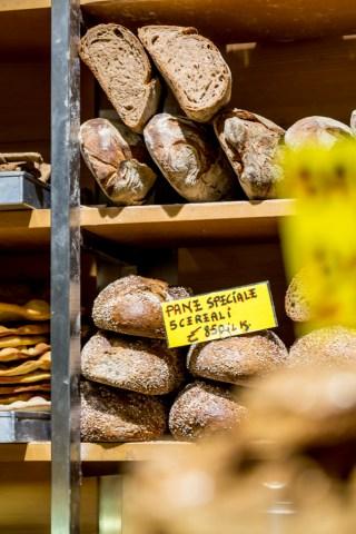 Bread at Antico Forno Roscioli bakery in Rome