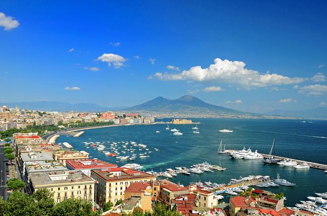 Naples Italy panorama