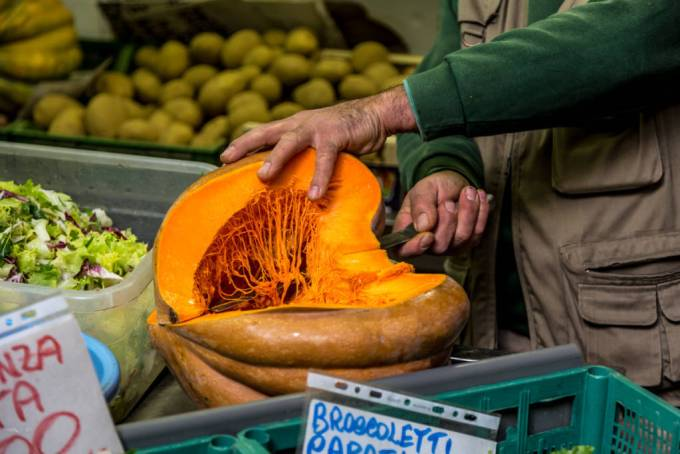 Pumpkin in season in Italy