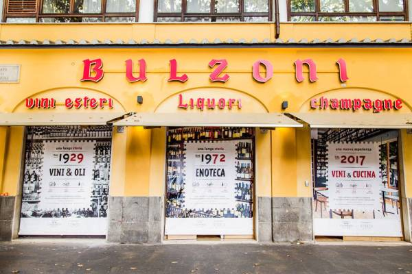 Bulzoni wine store in Rome
