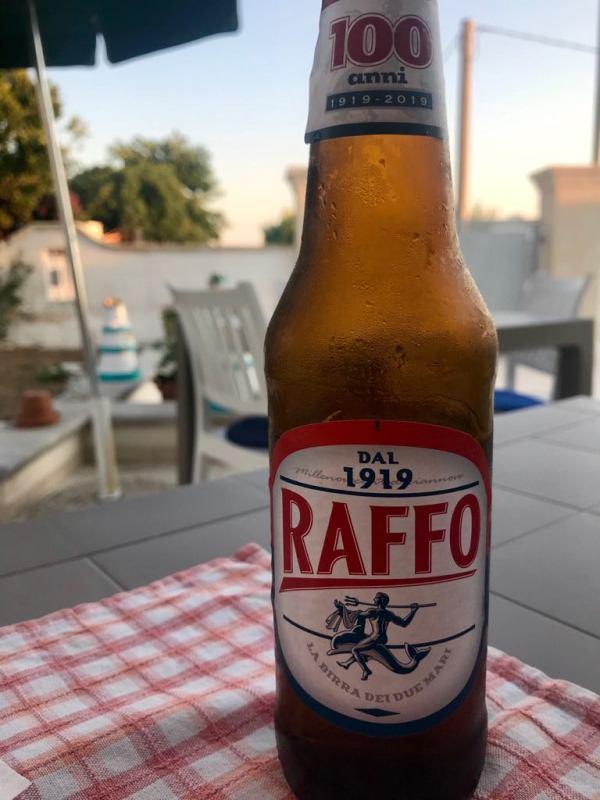 Raffo beer from Taranto, Puglia