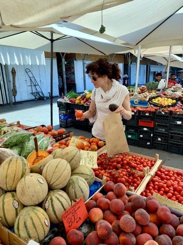 Gina at the market