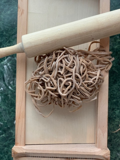 pasta made with chitarra