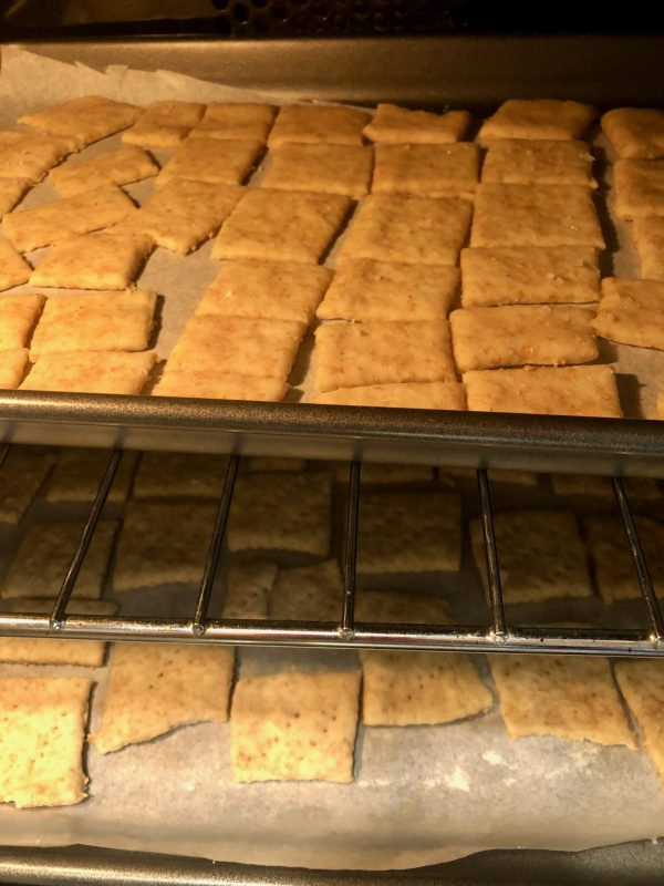 homemade crispy crackers made with sourdough starter discard