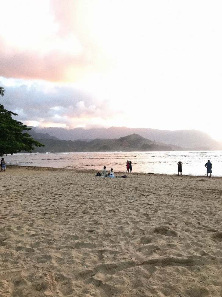 St. Regis Princeville, Kauai with kids, sunset