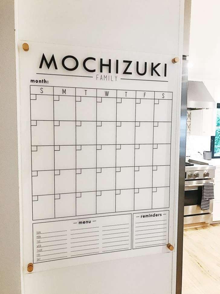 Family Command Center Wall Calendar