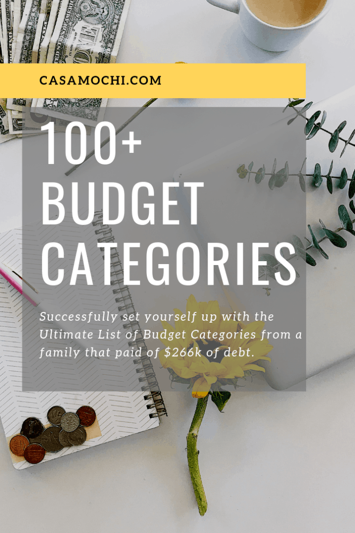 Best 100+ Budget Categories, Budgeting is Fun!