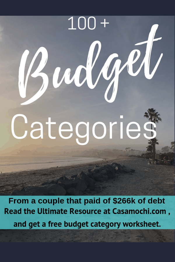 Pin on 100+ Budget Categories