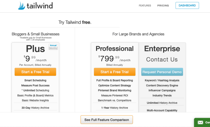 Tailwind Pricing