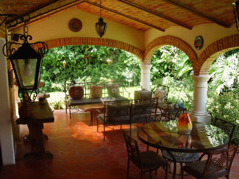 The Hacienda-Style Terrace - A Great Place To Enjoy the ... on Mexican Patio Ideas  id=74752