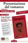 """La locandina della presentazione del libro """"Bandito!"""" sulla vita partigiana di Aroldo Colombini"""
