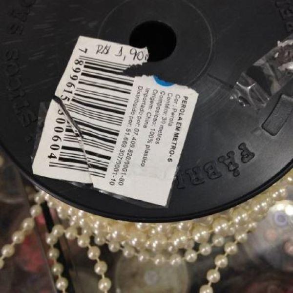 Rolo de pérolas a R$ 1,90 o metro