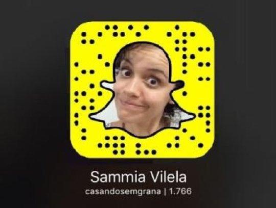 Snapchat Casando sem Grana Sammia Vilela