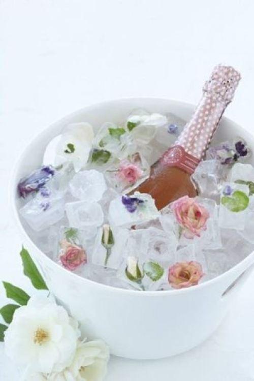 Gelos decorados para bebidas no casamento