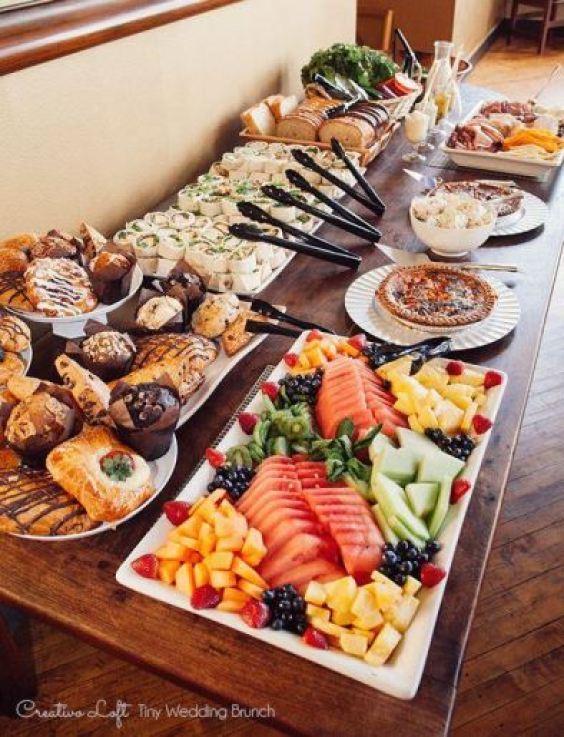 comidas para casamento pela tarde
