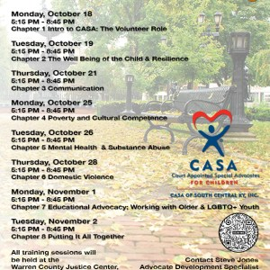 CASA Announces Next Training