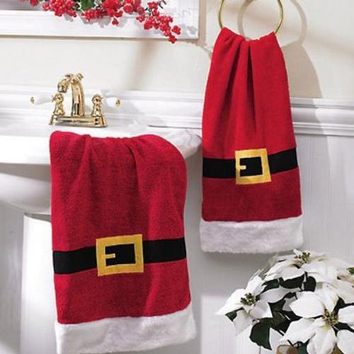 adornos-para-decorar-el-cuarto-de-bano-en-navidad-toalla-papa-noel