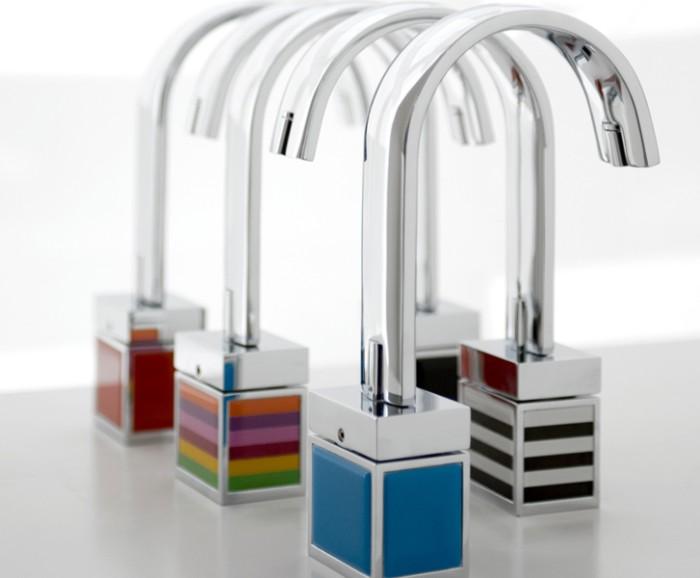 Bio shock grifos con base de color for Grifos de colores
