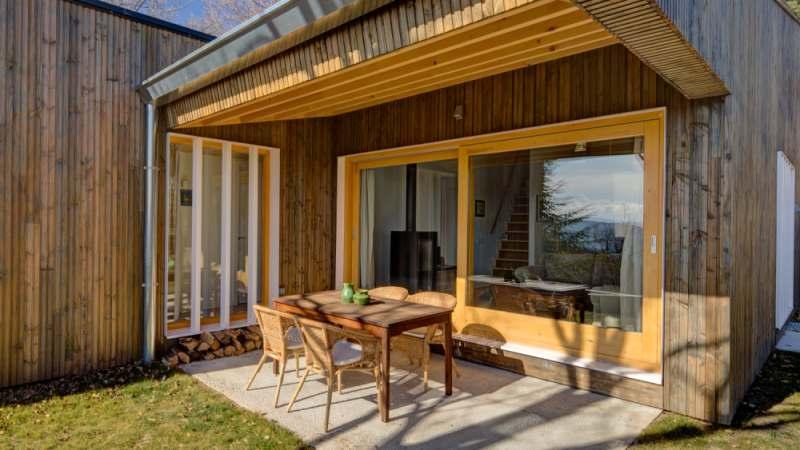 Casa de diseño en la montaña, vacacional y acogedora