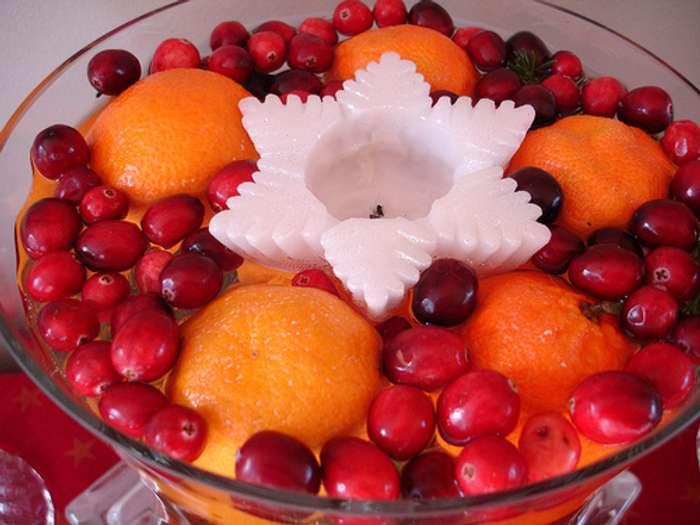 M s ideas de centros de mesa y arreglos florales para navidad for Frutas de cristal