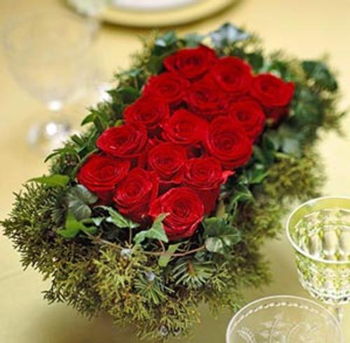 M s ideas de centros de mesa y arreglos florales para navidad - Arreglos navidenos para mesa ...