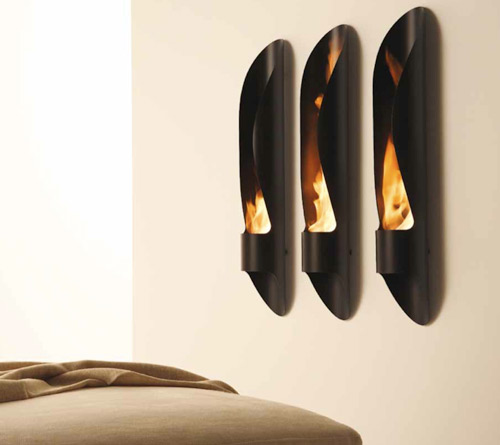 Chimenea de pared de dise o minimalista - Biochimenea de pared ...