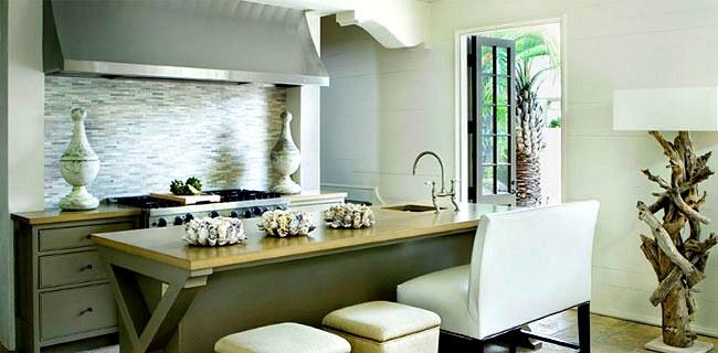 cocina con decoración elegante