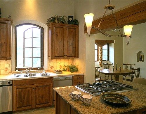cocina con madera y calidez