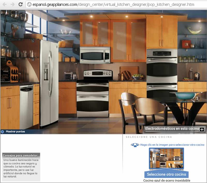 Disear cocinas online accediendo al diseador vers lo for Simulador cocinas 3d online