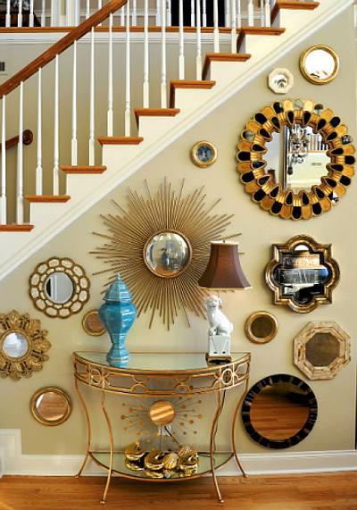 C mo decorar con espejos bajo las escaleras for Espejos como decorarlos