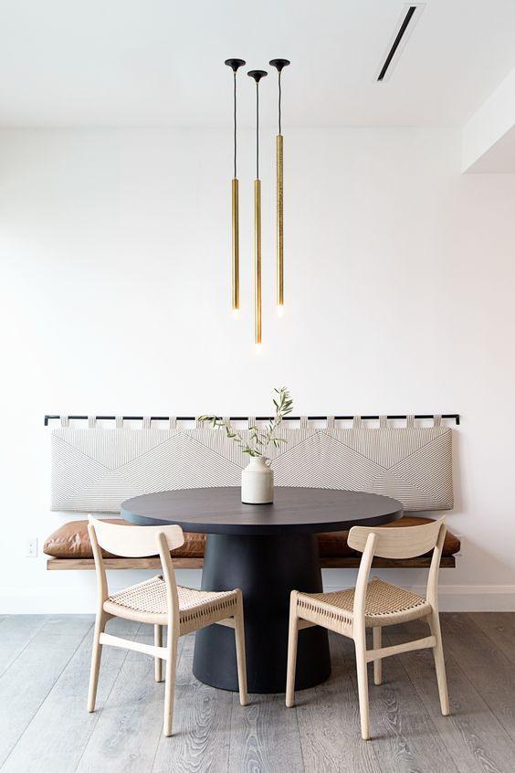 conjuto de luminarias minimalistas