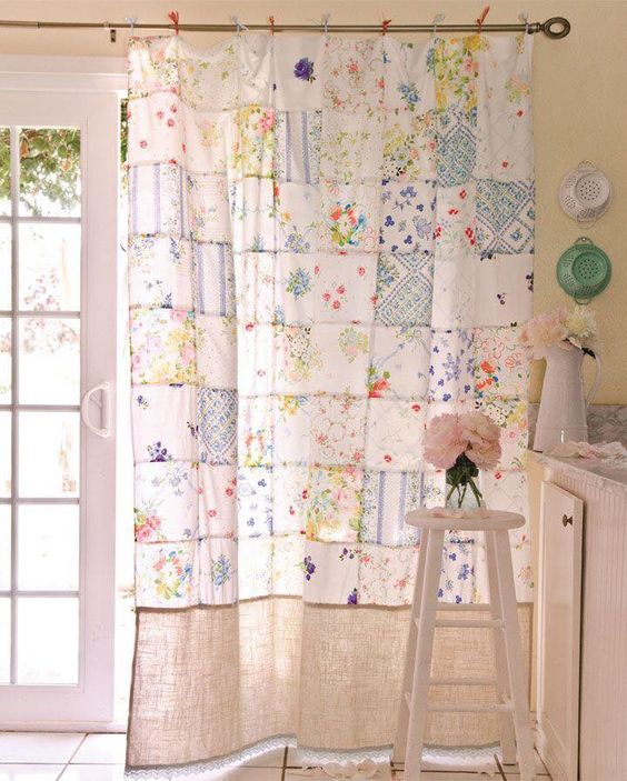cortinas patchwork