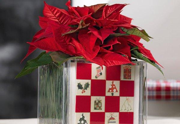 Decoraci n navidad centro de mesa hecho en casa - Adornos navidenos hechos en casa ...