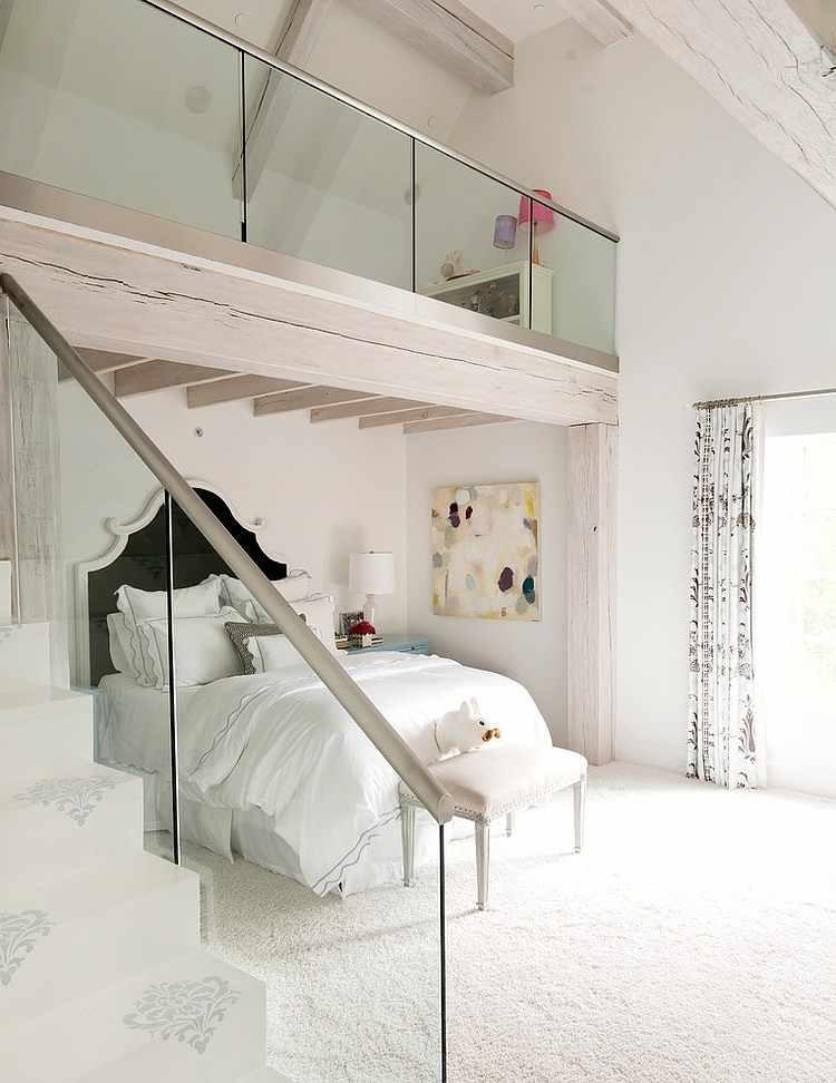 dormitorio con doble altura