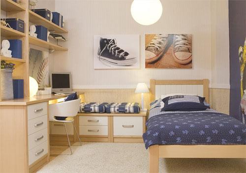 Dormitorios juveniles muebles modernos con color y estilo for Muebles juveniles modernos