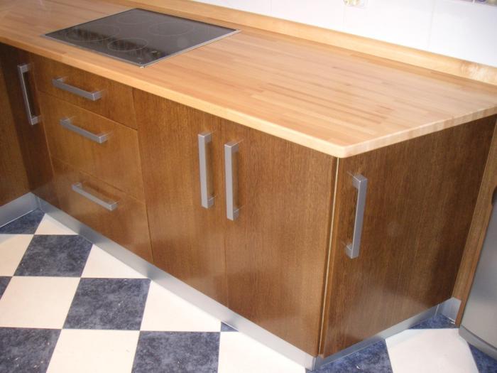 Encimera de cocina tipos de encimeras - Encimera madera cocina ...