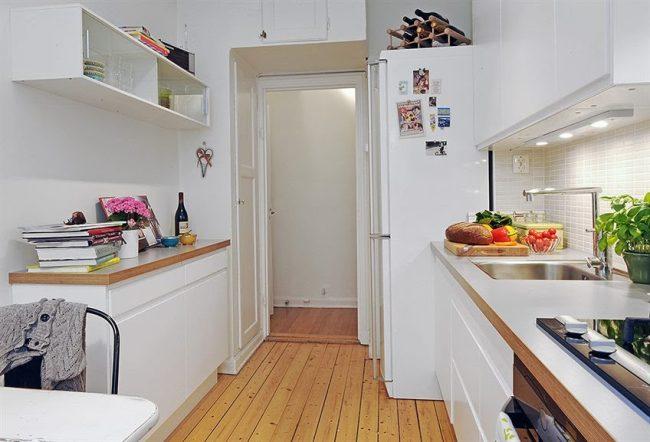 espacio de guardado en la cocina