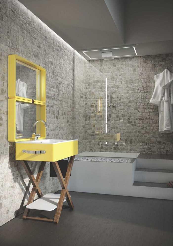 lavabo, mueble de baño original y colorido