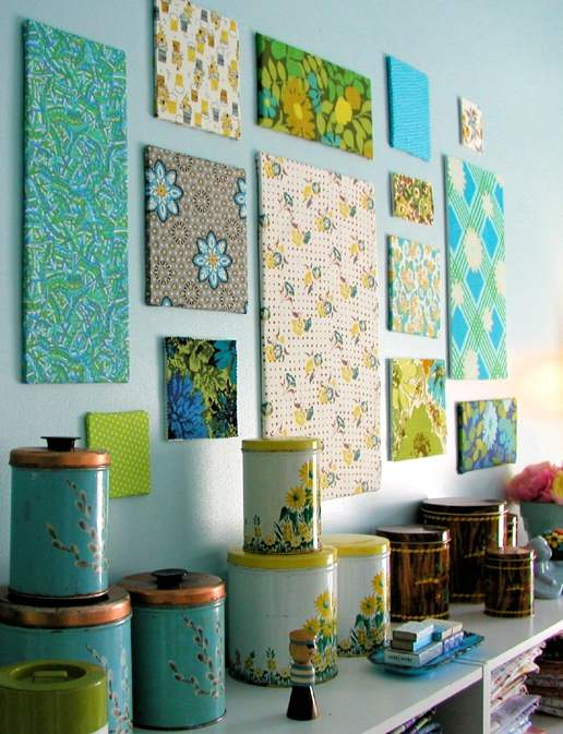 Diy con telas para decorar paredes - Telas para decorar paredes ...