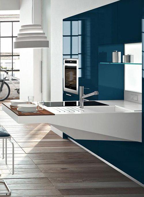 Modernas cocinas de dise o compacto para espacios peque os Modelos de cocinas modernas para espacios pequenos