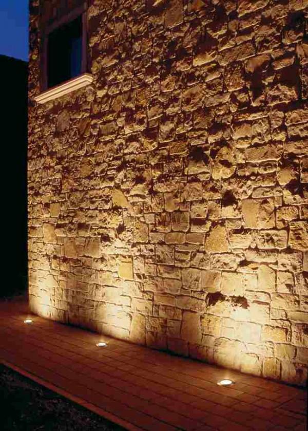 Iluminaci n exterior empotrable de pared o suelo for Iluminacion para jardines interiores