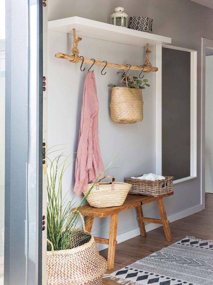 plantas y elementos naturales para decorar recibidores