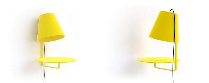 práctica luminaria con mueble multifunción