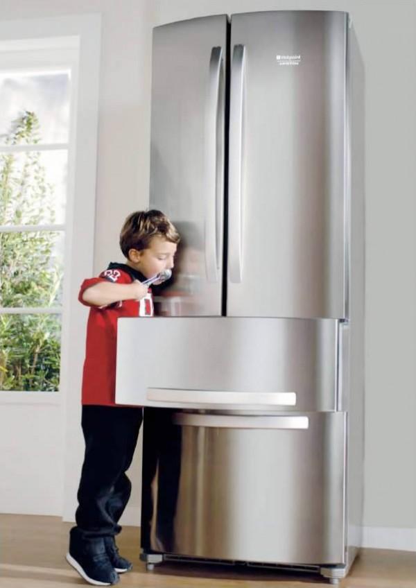 Los cajones con freezer son espaciosos y ordenados