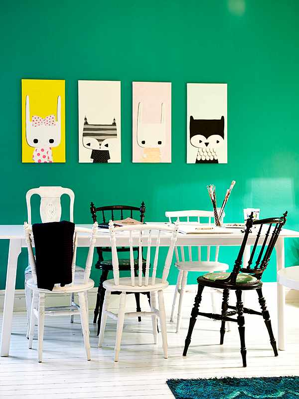 Renovar el comedor con pintura y toques originales for Comedores originales
