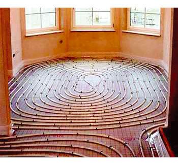 sistema de calefacción de suelo radiante