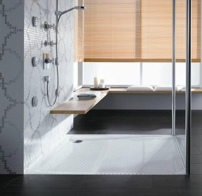 Superficies de ducha vitrificadas para ba os modernos for Duchas planas
